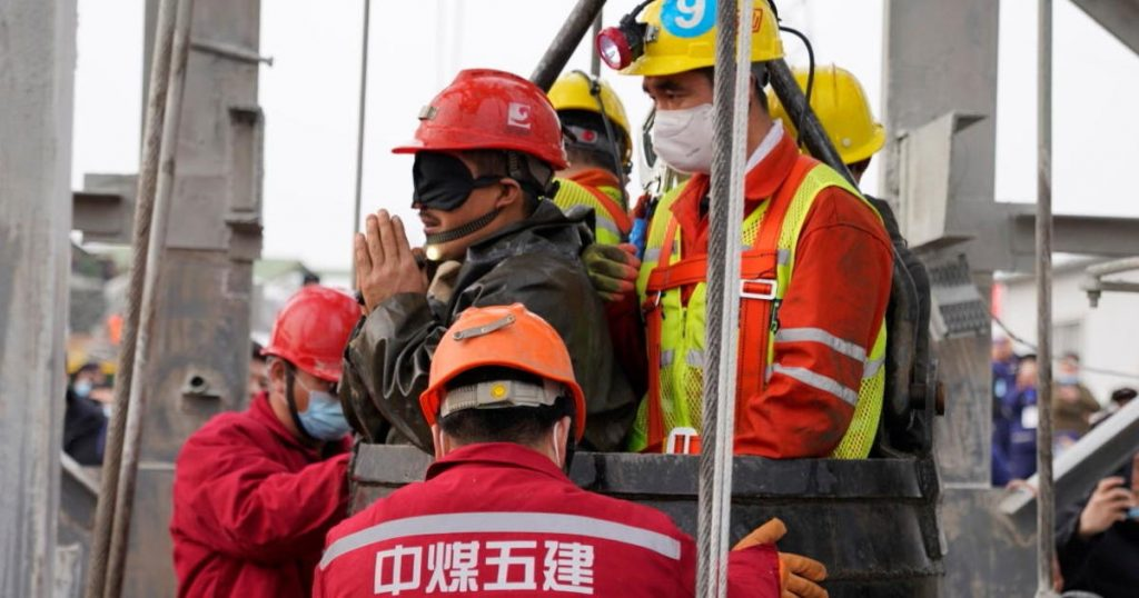 11 miners rescued from a Chinese gold mine