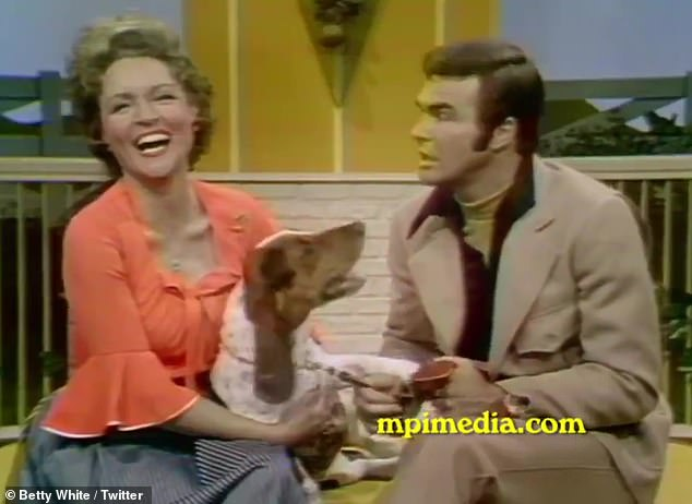 Man's Best Friend: In another clip, the late Burt Reynolds introduced her to his dog