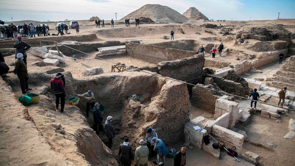 Egypt reveals more secrets at Saqqara with the discovery of the temple and the coffins
