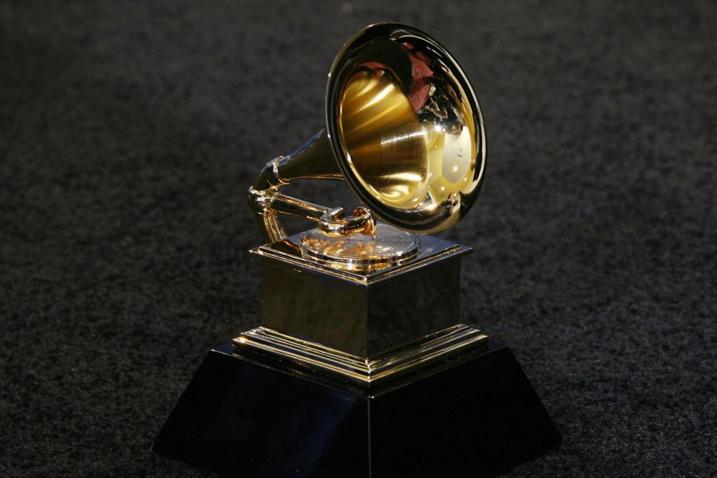 Los Angeles, UNITED STATES: The trophy of the Grammy Awards in Los Angeles 11 February 2007. AFP PHOTO/Gabriel BOUYS (Photo credit should read GABRIEL BOUYS/AFP via Getty Images)