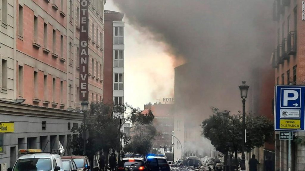 Madrid explosion: 3 people were killed and several wounded, as a result of an explosion that rocked the Spanish capital