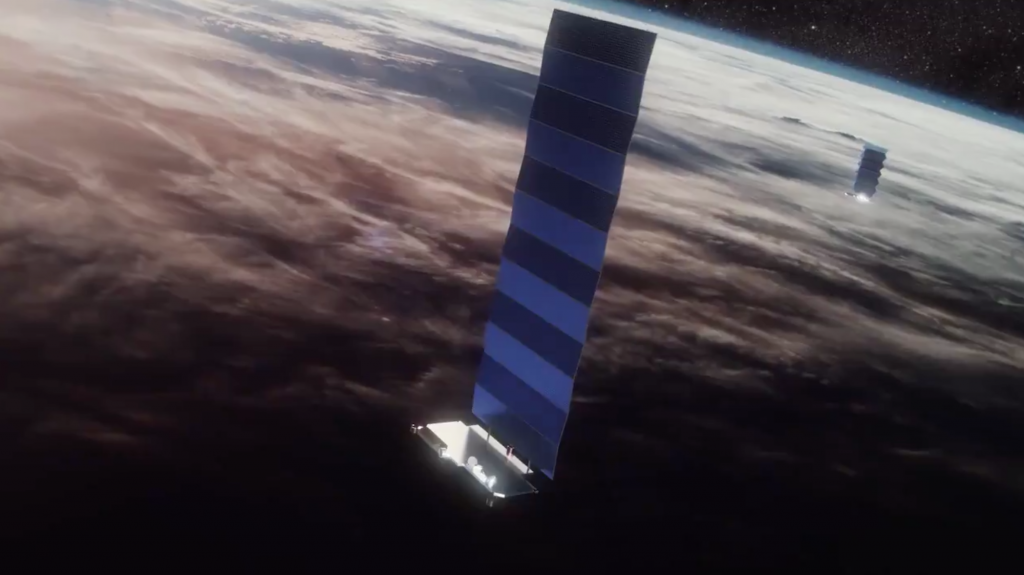 The Federal Communications Commission (FCC) grants permission for a polar launch of the Starlink satellites