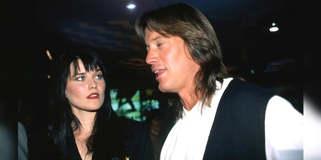 Actors Lucy Lawless and Kevin Sorbo attend a promotional event on MCA TV for their TV show